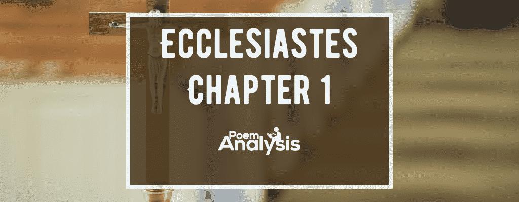 Ecclesiastes Chapter 1