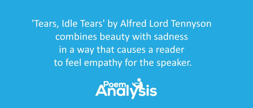 Tears, Idle Tears by Alfred Lord Tennyson Summary
