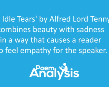Tears, Idle Tears by Alfred Lord Tennyson Summary