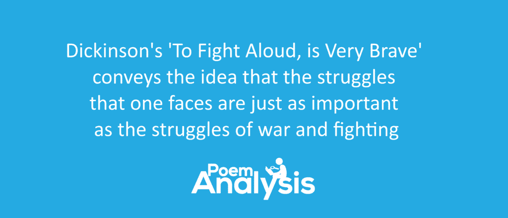 Analysis Of To Fight Aloud Is Very Brave By Emily Dickinson