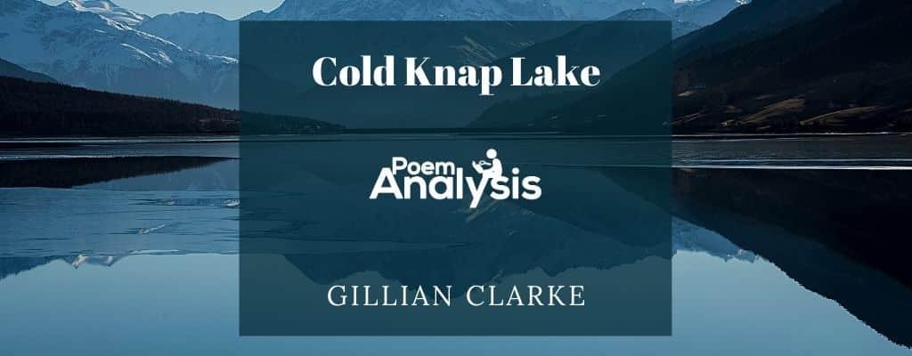 Cold Knap Lake by Gillian Clarke