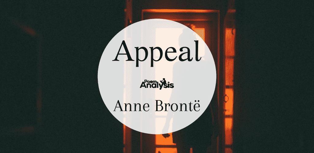 Appeal by Anne Brontë