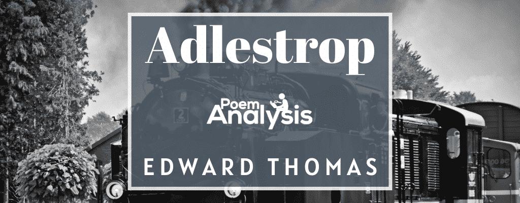 Adlestrop by Edward Thomas