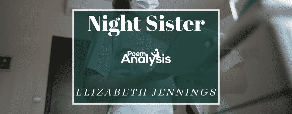 Night Sister by Elizabeth Jennings