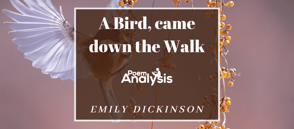 A Bird, came down the Walk by Emily Dickinson