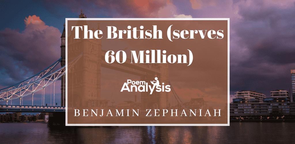 The British (serves 60 Million) by Benjamin Zephaniah