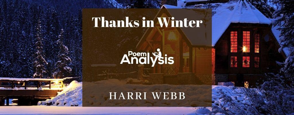 Thanks in Winter by Harri Webb