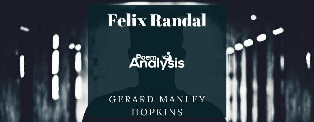 Felix Randal by Gerard Manley Hopkins