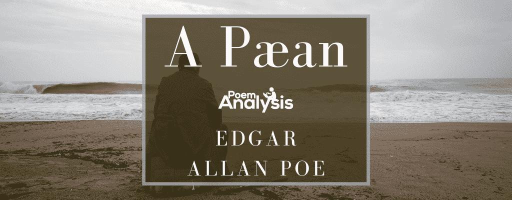 A Pæan by Edgar Allan Poe