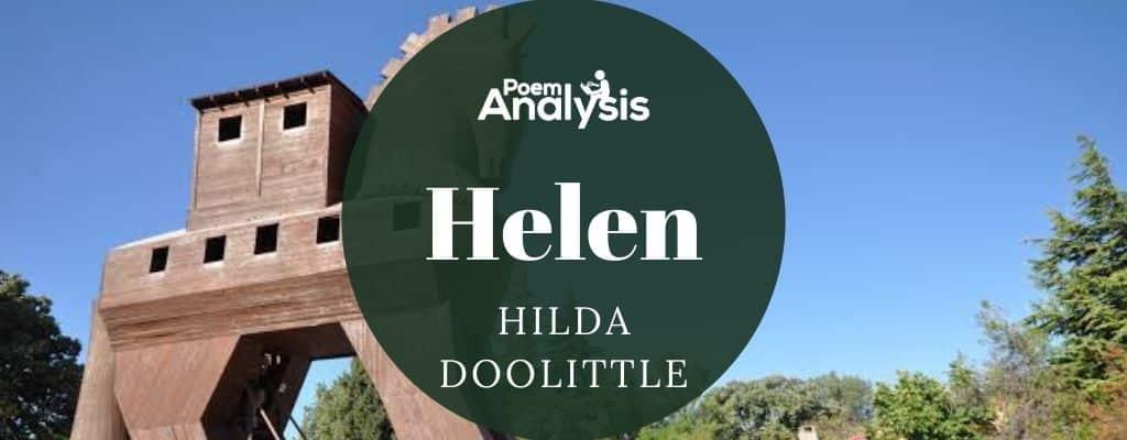 Helen by H.D. (Hilda Doolittle)