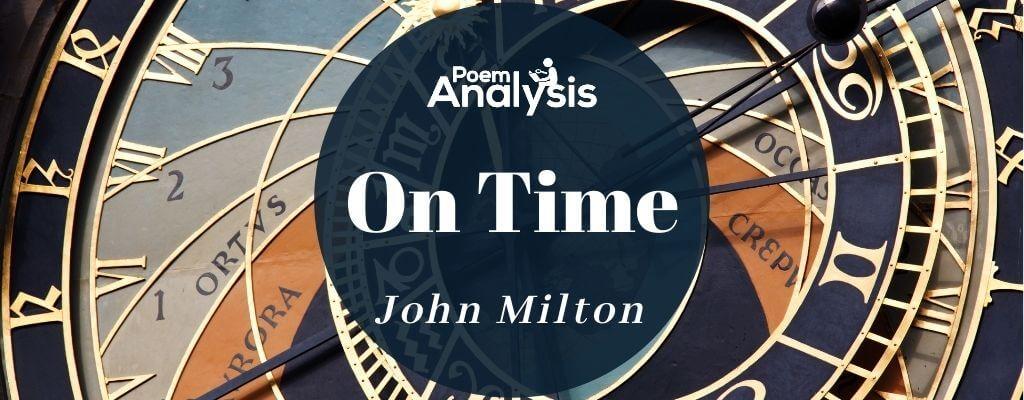 On Time by John Milton