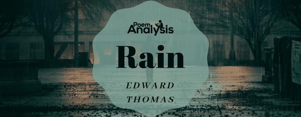 Rain by Edward Thomas