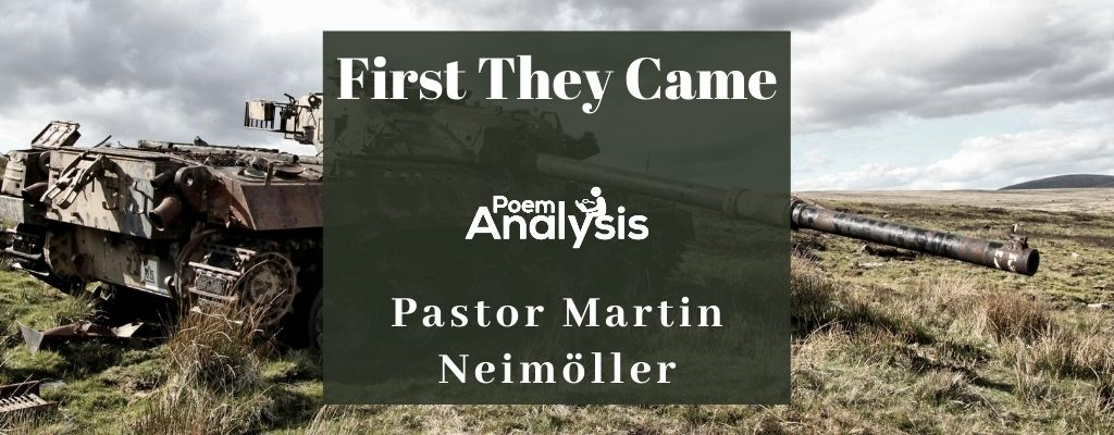 First They Came by Pastor Martin Neimöller