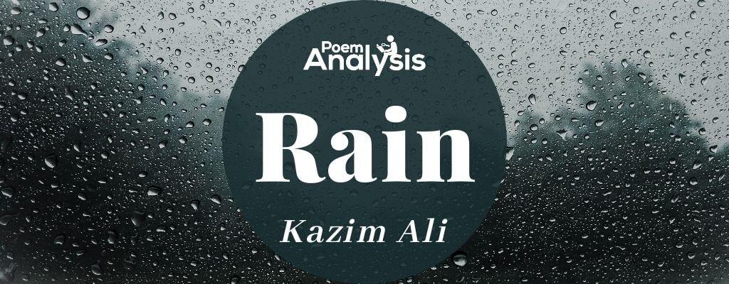 Rain by Kazim Ali