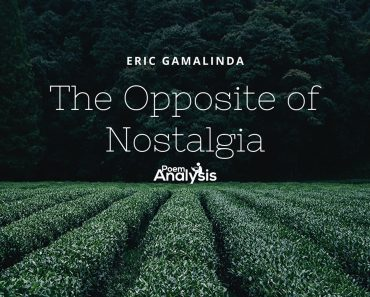 The Opposite of Nostalgia by Eric Gamalinda