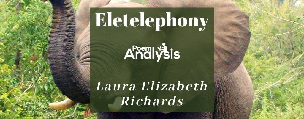 Eletelephony by Laura Elizabeth Richards