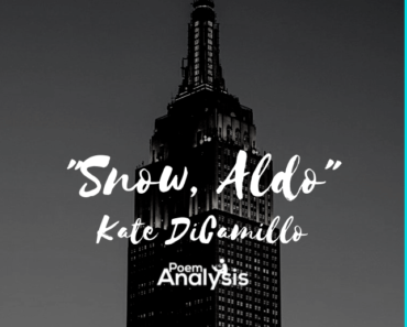"""""""Snow, Aldo"""" by Kate DiCamillo"""