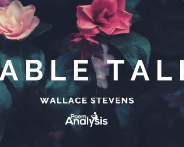Table Talk by Wallace Stevens