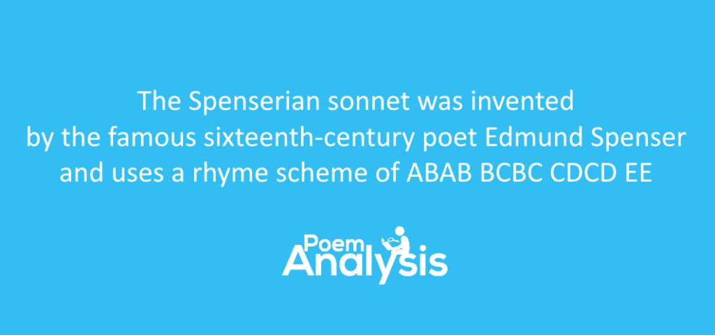 Spenserian sonnet definition and rhyme scheme