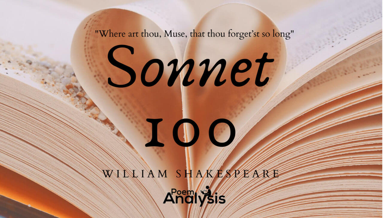Sonnet 100: Where art thou, Muse, that thou forget'st so long by William Shakespeare