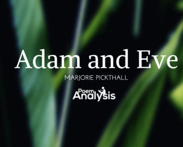 Adam and Eve by Marjorie Pickthall
