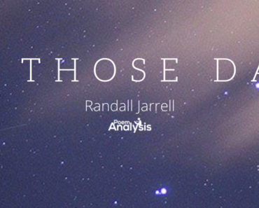 In Those Days by Randall Jarrell