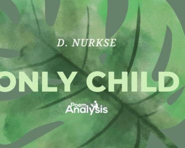 Only Child by D. Nurkse
