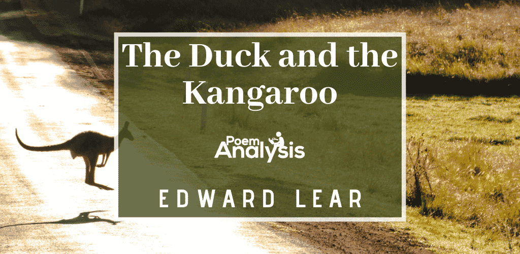 The Duck and the Kangaroo by Edward Lear