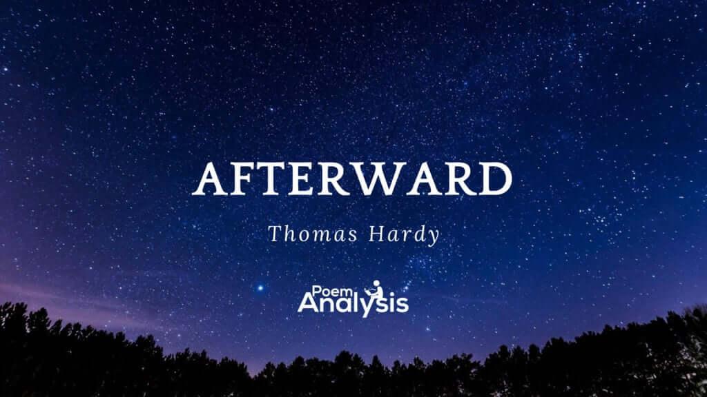 Afterwards by Thomas Hardy