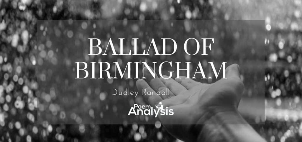 Ballad of Birmingham by Dudley Randall