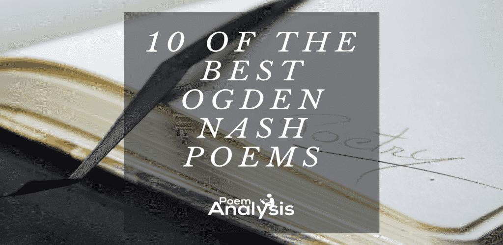 Best Ogden Nash Poems