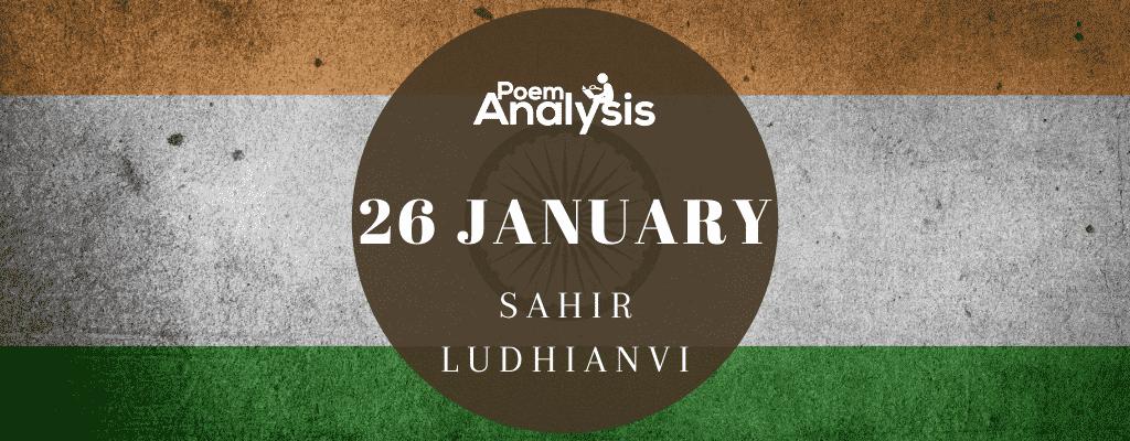26 January by Sahir Ludhianvi