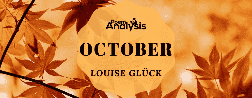 October by Louise Glück