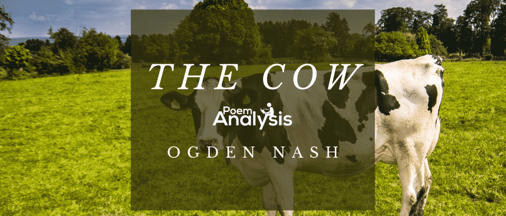 The Cow by Ogden Nash