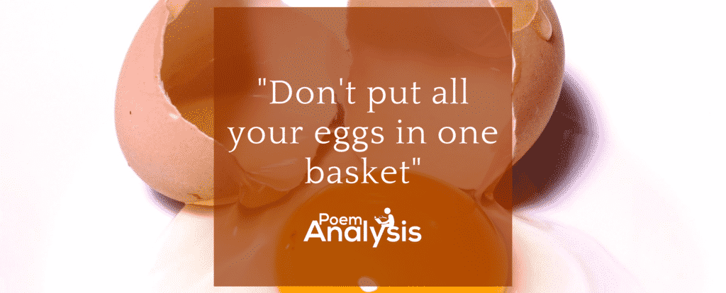 Don't put all your eggs in one basket idiom
