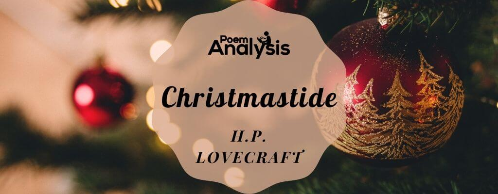 Christmastide by H.P. Lovecraft