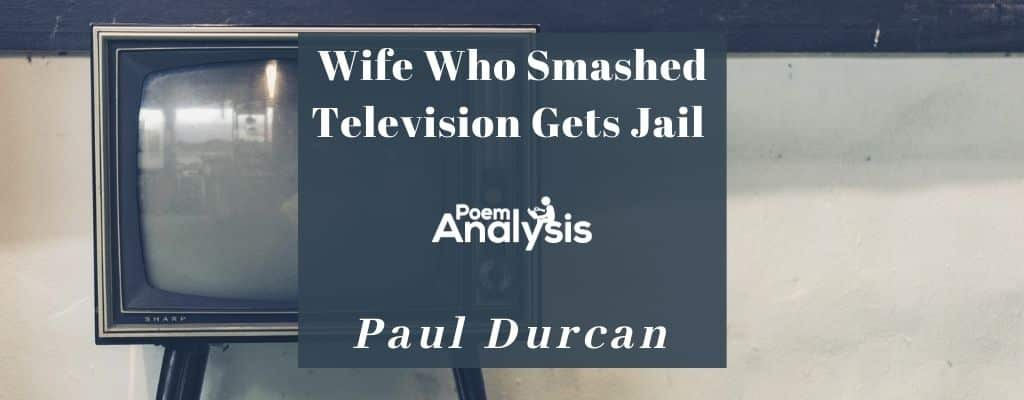 Wife Who Smashed Television Gets Jail by Paul Durcan