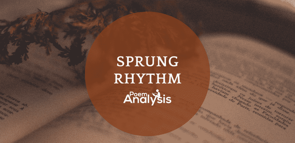 Sprung rhythm definition and examples