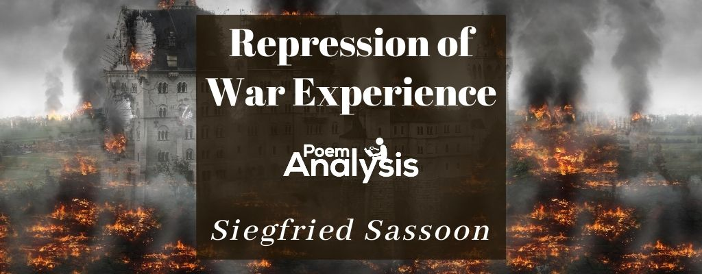 Repression of War Experience by Siegfried Sassoon