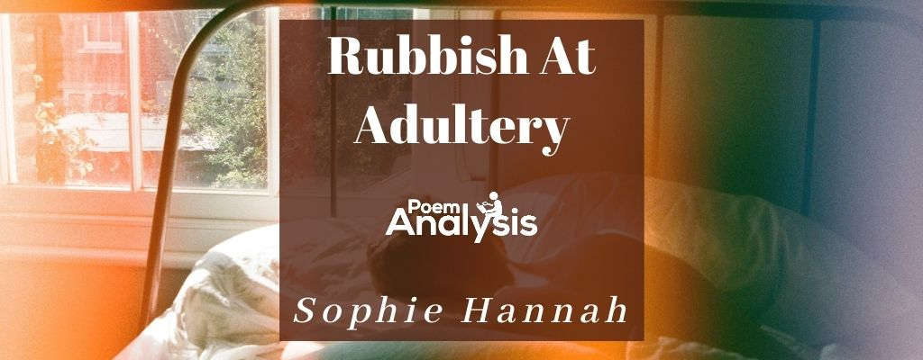 Rubbish At Adultery By Sophie Hannah
