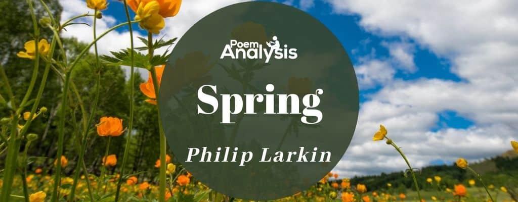 Spring by Philip Larkin