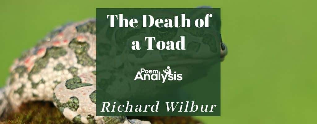 The Death of a Toad by Richard Wilbur