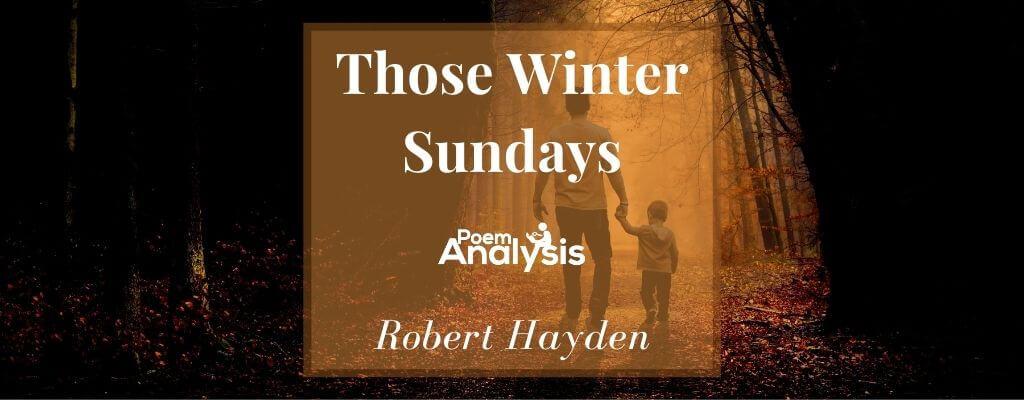 Those Winter Sundays by Robert Hayden