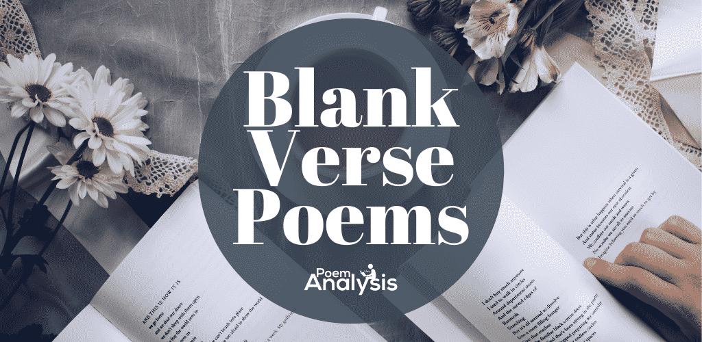 Best Blank Verse Poems