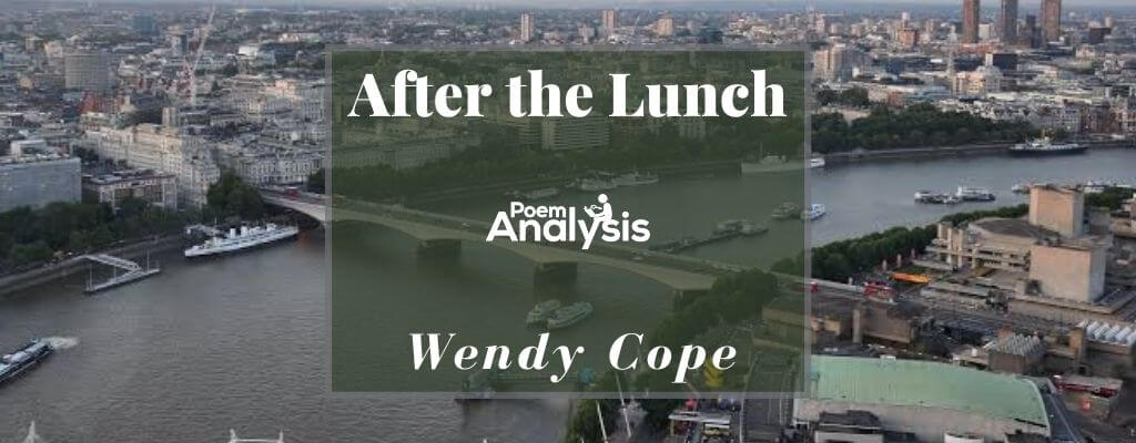 After the Lunch by Wendy Cope