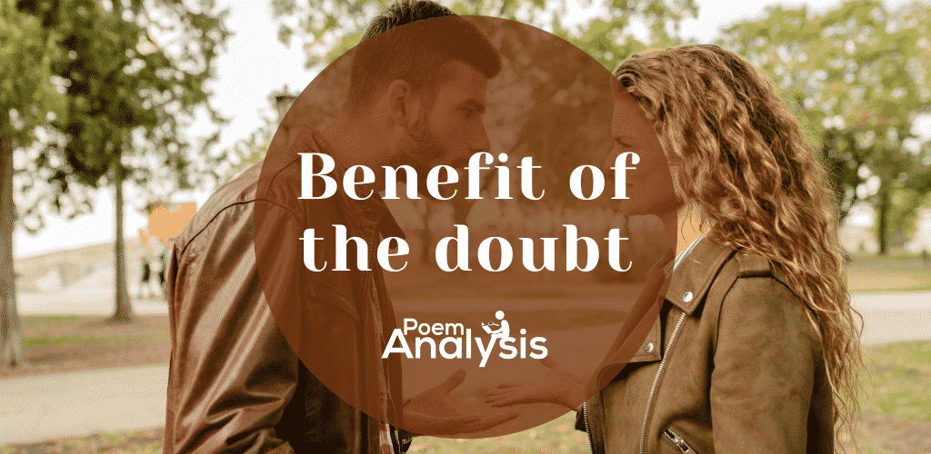 Benefit of the doubt meaning