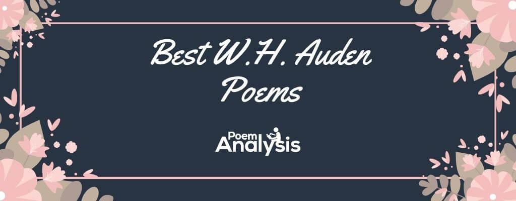 Best W.H. Auden Poems