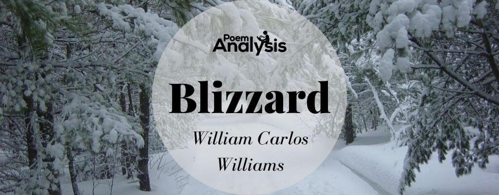 Blizzard by William Carlos Williams