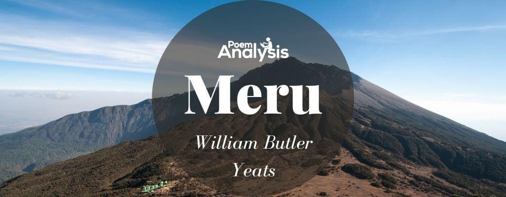 Meru by William Butler Yeats