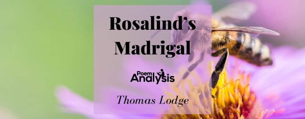 Rosalind's Madrigal by Thomas Lodge
